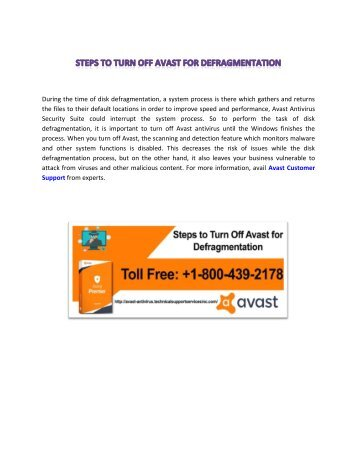 Steps to Turn Off Avast for Defragmentation