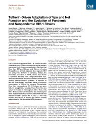 Tetherin-Driven Adaptation of Vpu and Nef Function - EMBO Events ...