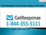 1-844-355-5111 Get Response Customer Service Number