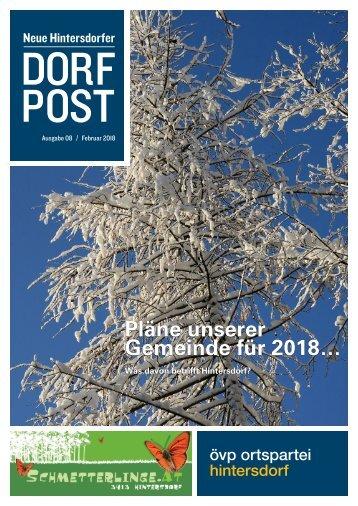 Dorfpost Hintersdorf: Ausgabe 08 / Februar 2018