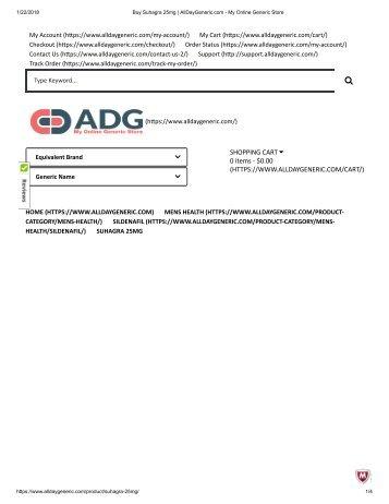 Buy Suhagra 25mg _ AllDayGeneric