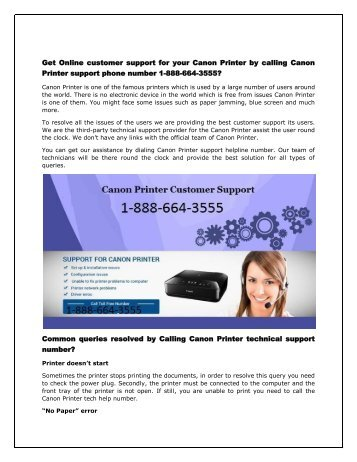 Get online canon printer customer support number 1-888-664-3555