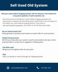 Sell Your Used Medical Imaging System – PhiGEM Parts