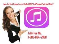 1-800-694-2968 How To Fix iTunes Error Code 8392 in iPhone iPad & Mac?