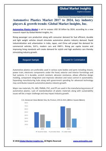 Automotive Plastics Market growth outlook with industry review and forecasts 2017-2024