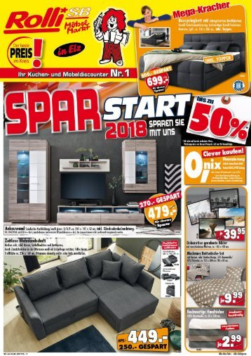 Spar-Start 2018 - Sparen Sie mit Rolli SB Möebelmarkt in 65604 Elz bei Limburg