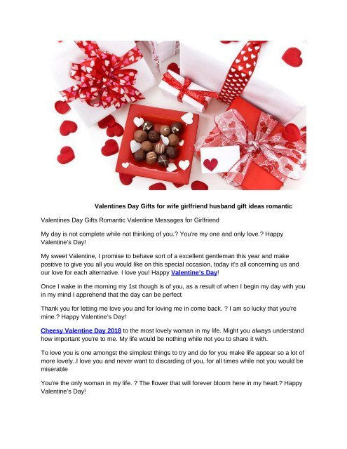 Valentines Day Gifts For Wife Girlfriend Husband Gift Ideas