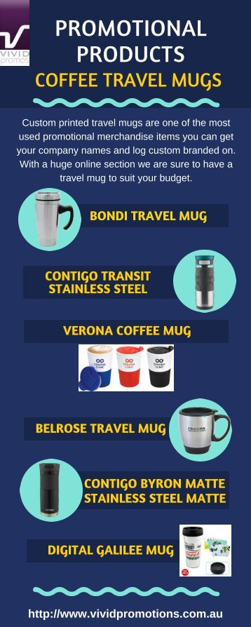 Infographic of Promotional Coffee Travel Mugs