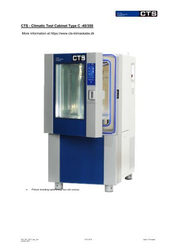 CTS - Climatic Test Cabinet Type C -40/350