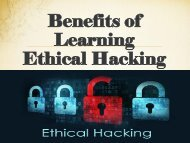 Benefits of Learning Ethical Hacking