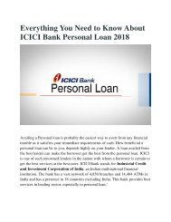 Everything You Need to Know About ICICI Bank Personal Loan 2018