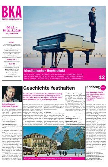 Berner Kulturagenda 2018 N°6