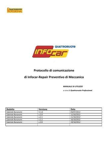 Protocollo di comunicazione Preventivo di meccanica