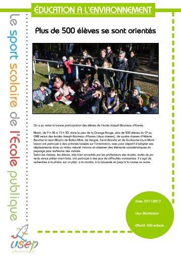 prototype revue de presse EDUCATION A L'ENVIRONNEMENTPlus de 500 élèves se sont orientés