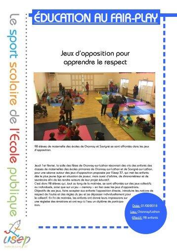prototype revue de presseÉDUCATION AU FAIR-PLAYJeux d'opposition pour       apprendre le respect