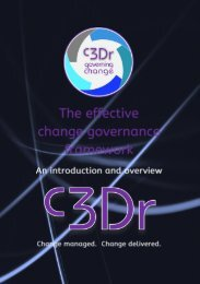 The Change Governance Framework