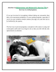 Buy Mifepristone and Misoprostol Kit of Abortion Pills Online at GenericEPharmacy