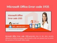 Fix Microsoft Office Error code 1935 Call 1-888-909-0535
