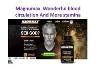 Magnumax Improve Enhanced energy levels