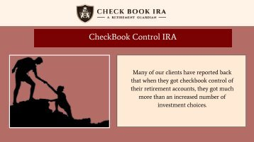 Precious Metals IRA LLC | Check Book IRA LLC