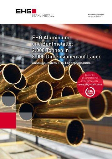 EHG Übersichtsfolder Aluminium und Buntmetalle