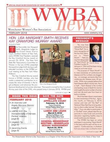 WWBA February 2018 Newsletter
