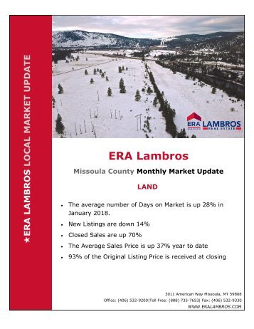 Missoula Land Update - January 2018