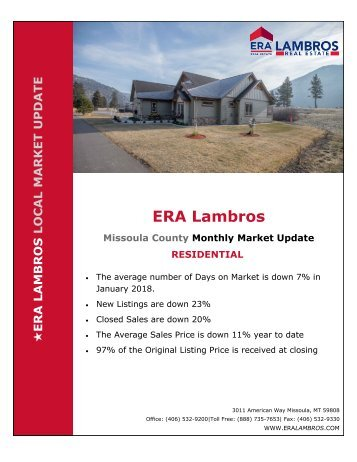 Missoula Residential Update - January 2018