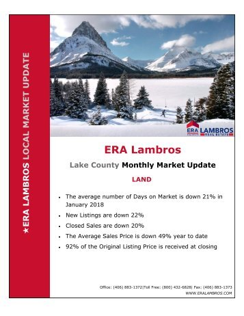 Lake County Land Update - January 2018