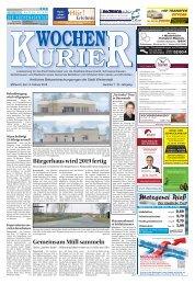Wochen-Kurier 7/2018 - Lokalzeitung für Weiterstadt und Büttelborn