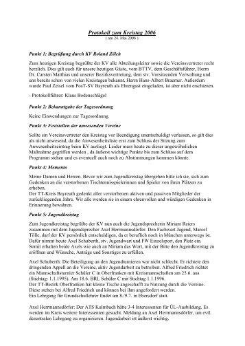 Protokoll zur Kreistagssitzung vom 24.05.2006 - Bayreuth