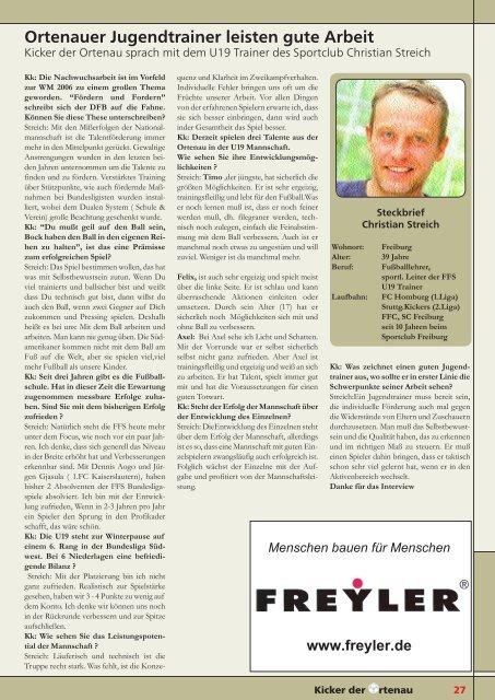 Kicker der Ortenau Winter 2004/2005