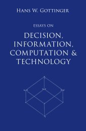 Hans Gottinger, Essays on Decision, Information, Computation and Technology