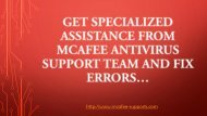 Get Assistance from McAfee Support Toll-Free Number