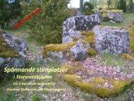 Spännande stenplatser i Storvretabygden. Galmmal kultursten och stenhuggning. Del 2  Borrkluvet stenmaterial. Sven-Inge Windahl 2018