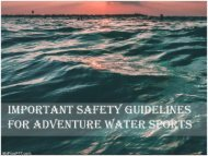 Important Safety Guidelines for Adventure Water Sports
