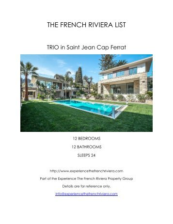 Trio - Saint Jean Cap Ferrat