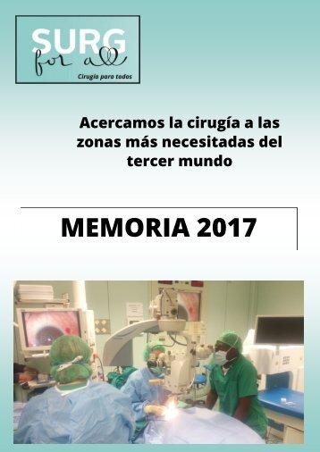 Surg For All. Memoria 2017