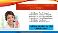 QuickBooks Customer Service and Support Number +1-800-477-8031