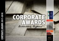 Awards & Recognition Corporate 2017