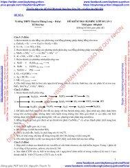 Tuyển tập các đề thi học sinh giỏi Olympic môn hóa học & sinh học lớp 10 (kèm đáp án chi tiết) (by Dameva)