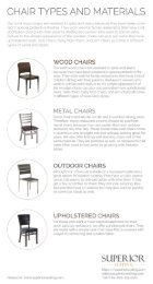 Chair Types and Materials