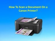 How To Scan a Document On a Canon Printer?