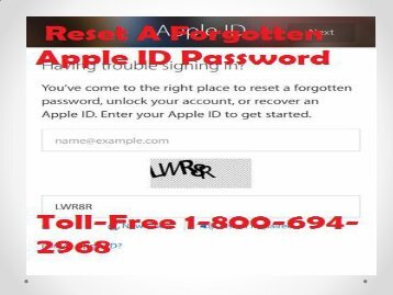 How To Reset A Forgotten Apple ID Password Call 1-800-694-2968