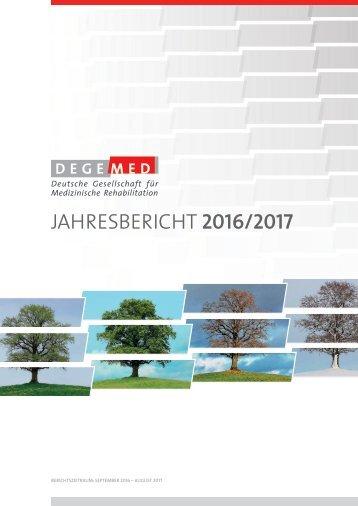 DEGEMED-Jahresbericht 2016-2017
