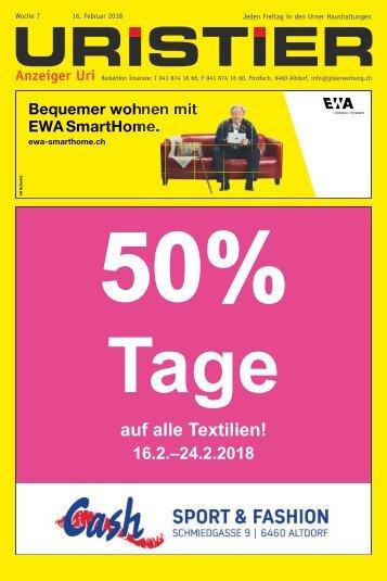 07.2018 Uristier  Der Urner Gratisanzeiger