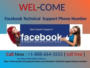 Facebook Technical Support Number +1-888-664-3555