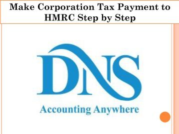 Make Corporation Tax Payment to HMRC Step by Step