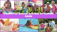 Creative Fun Summer Activities for Kids and Adults