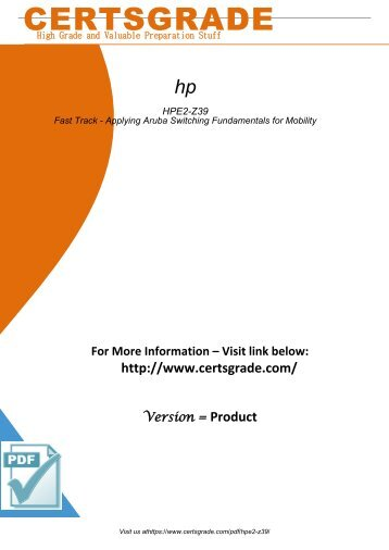 HPE2-Z39 Exam Preparation Material 2018